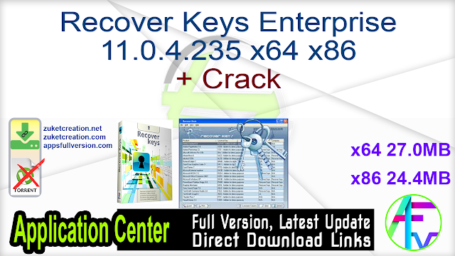 Recover Keys Enterprise 11.0.4.235 x64 x86 + Crack