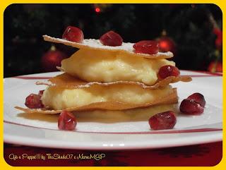 Fotografia della ricetta Millefoglie di pane carasau con crema pasticcera alla vaniglia