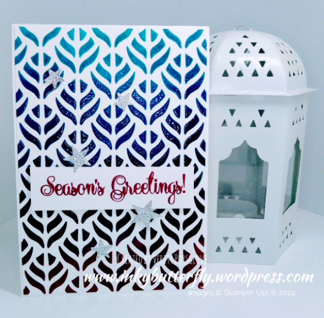 Nigezza Creates with Stampin' Up! and Inkybutterfy and Basic Pattern Decorative Masks
