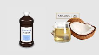 Coconut oil Hydrogen peroxide Toothpaste