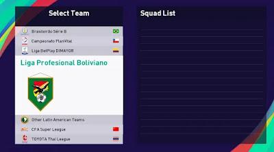 Bolivian league pes21 sp21