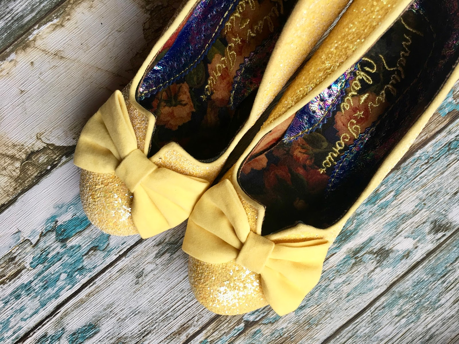 Irregular choice nick of time yellow