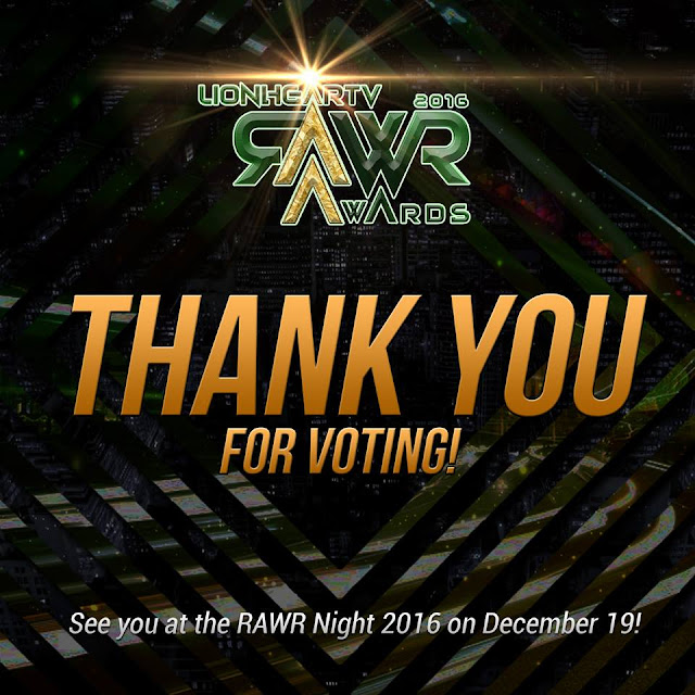 Voting for the RAWR Awards 2016 is now closed!