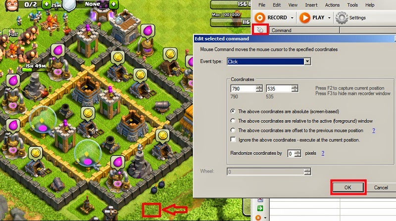 Cara Membuat Macro Clash Of Clans Auto loot