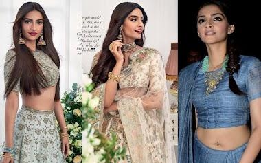 Indian Model Sonam Kapoor Photo Shoot For Wedding Magazine Summer