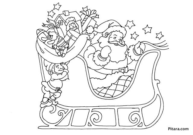 colorear de Trineos de navidad