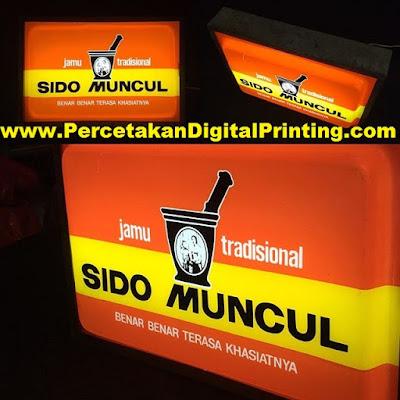 Contoh Desain NEON BOX Dari Percetakan Digital Printing Terdekat