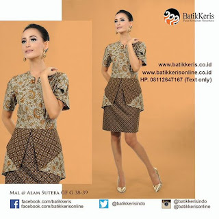 model sackdress batik pesta