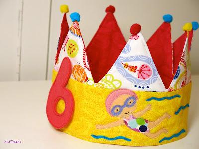 Corona d'aniversari feta a mà nadadora Enfilades.cat