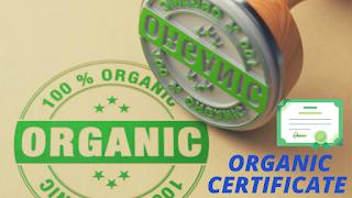 Organic certification stamp