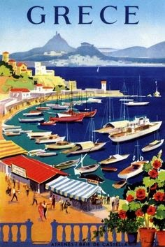 Greek travel poster.Vakirtzis.1955
