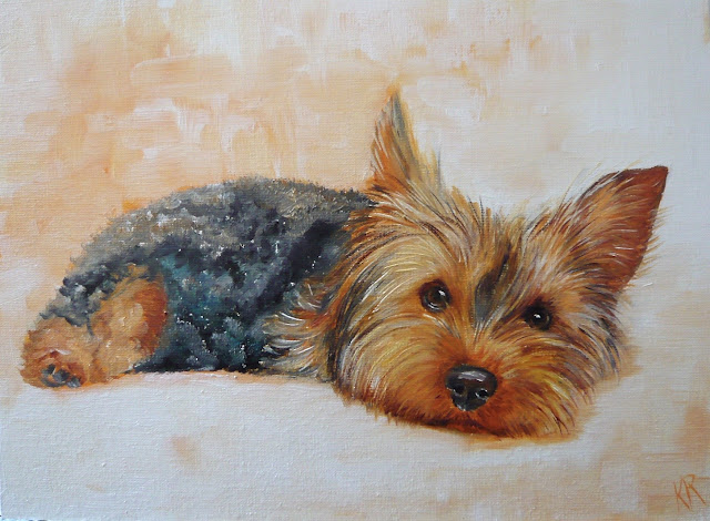 autumn colours, a yorkshire terrier