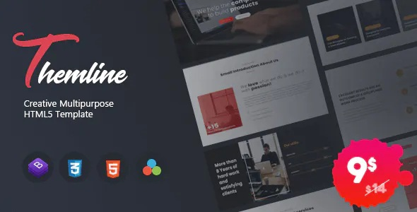 Best Creative Multipurpose One page Template