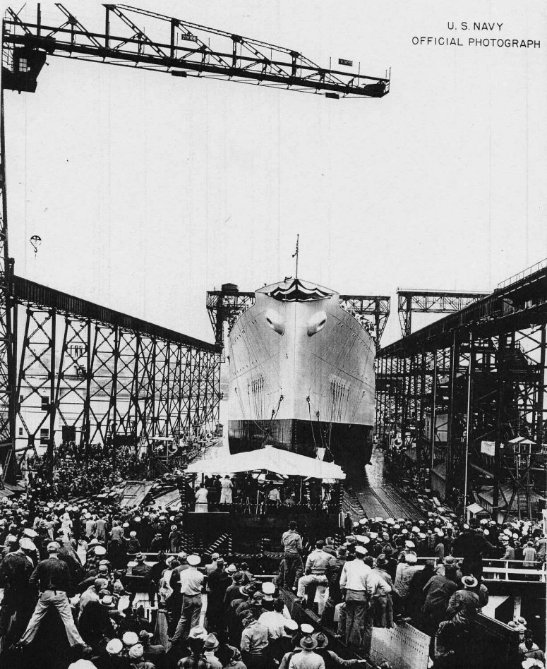 27 December 1940 worldwartwo.filminspector.com submarine tender Fulton launching