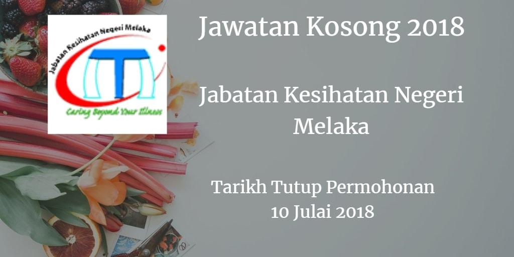 Jawatan Kosong JKN Melaka 10 Julai 2018