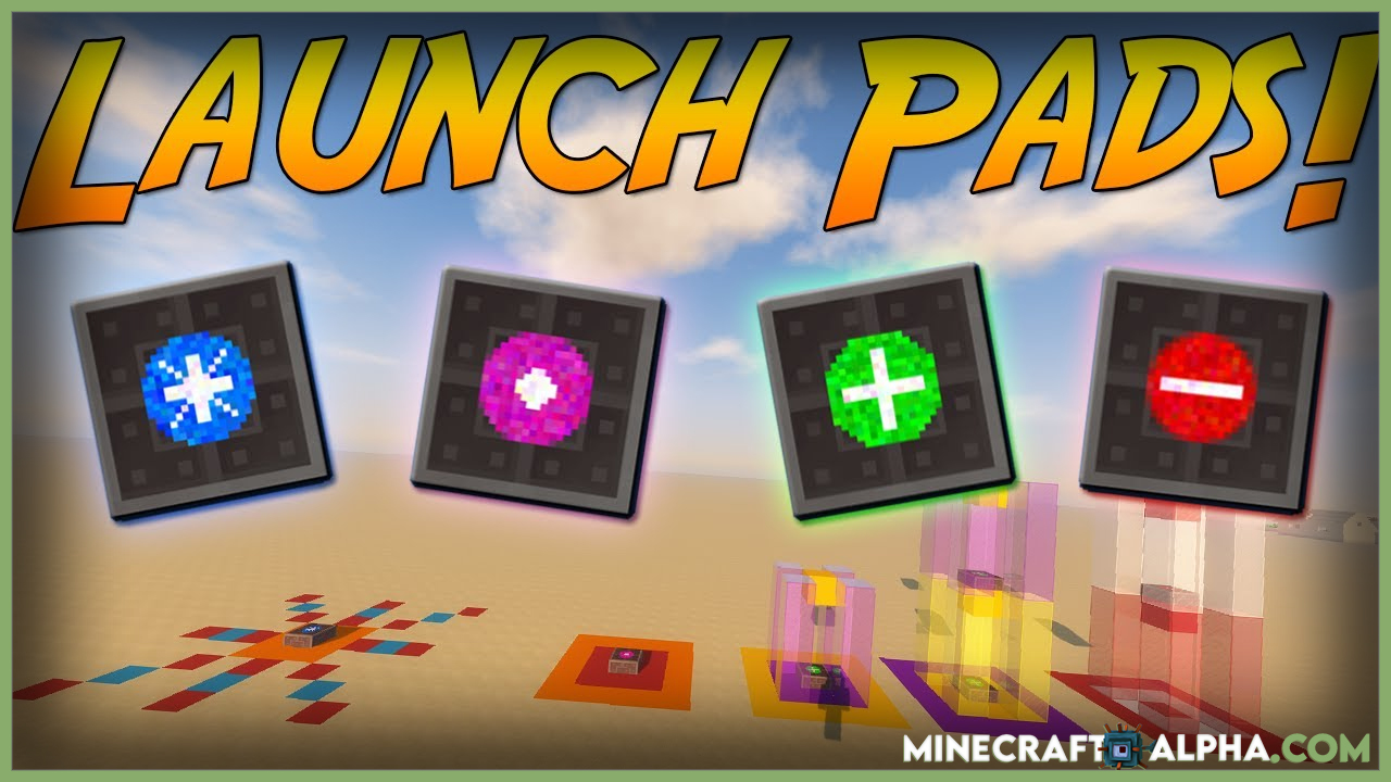 Minecraft Launchpads Mod 1.17.1/1.16.5 (Fabric And Forge)