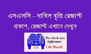 ssc - dakhil scholarship result - Edu Masail - এসএসসি - দাখিল বৃত্তি রেজাল্ট ২০২০