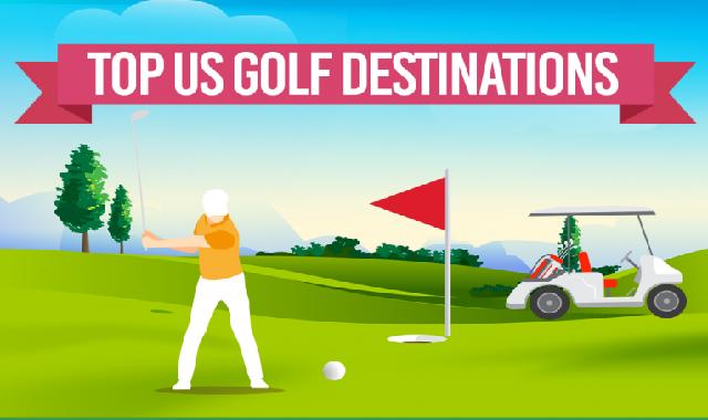 Top US Golf Destinations #infographic