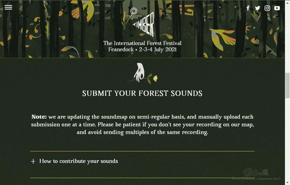 Forest Soundmap 聆聽世界各地的森林聲音