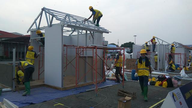 Pembangunan rumah menggunakan baja ringan lebih cepat, hemat, tapi kuat  Gambar diambil saat pameran kosntruksi di J JI Expo kemayoran, Jakarta. (dok. windhu)