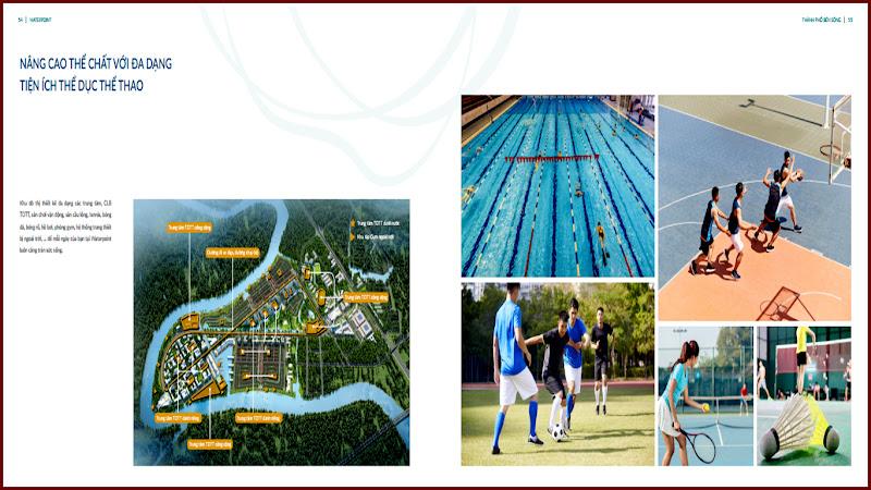 Tiện ích thể dục thể thao khu đô thị Waterpoint