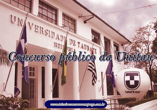 Edital Concurso Público da UNITAU oferece vagas em dez cargos