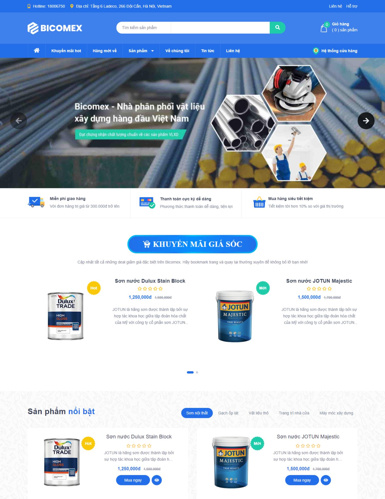 Theme blogspot bán vật liệu xây dựng (VSM28)