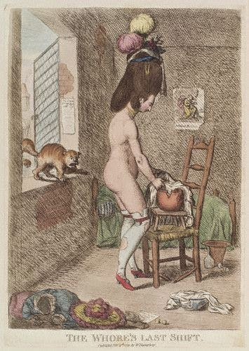 The whore's last shift James Gillray 1779