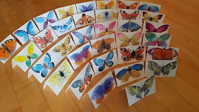 watercolor papillons