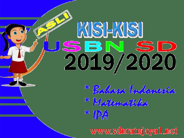 Kisi-kisi USBN SD 2019/2020