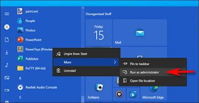 Mengenal fungsi Run As Administrator di Windows 10