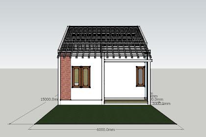 Desain Rumah Sederhana Tipe 45 Lengkap dengan Pondasi dan Rangka Atap