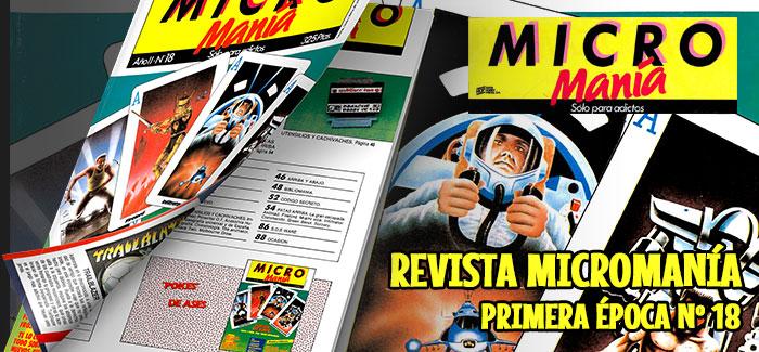 Revista Micromanía Primera época Número 18 1986