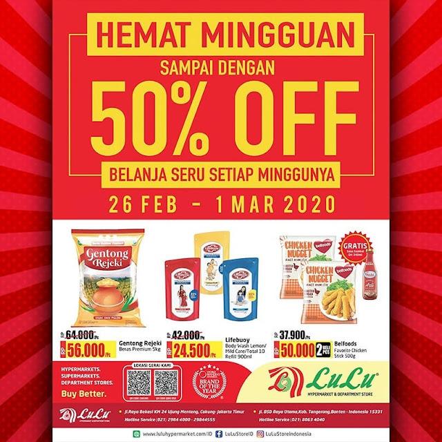 #LuluStore - #Katalog Hemat Mingguan Diskon s.d 50% Off (26 Feb - 01 Mar 2020)
