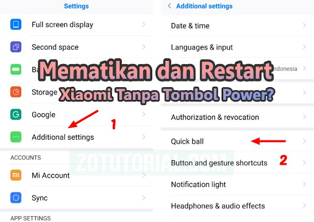 Mematikan & Restart HP Xiaomi Tanpa Tombol Power (Alternatif)
