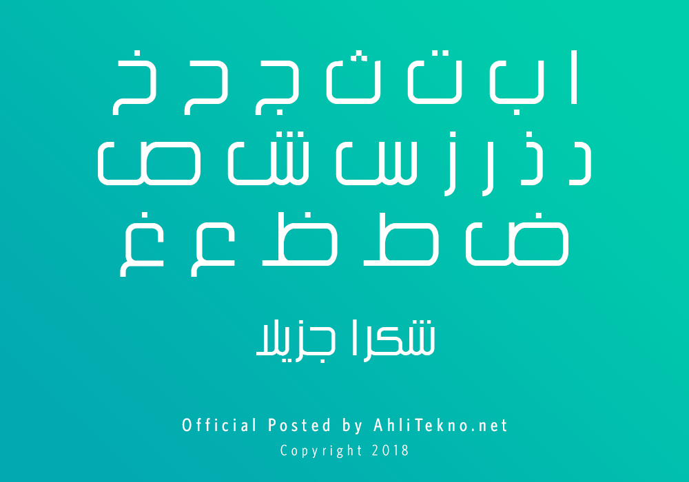 kumpulan font typography arabic keren (Kacst Title)