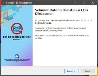 langkah Awal Instal Aplikasi EDS Offline