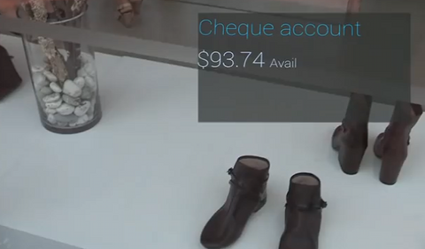 Westpac Cash Tank sur Google Glass
