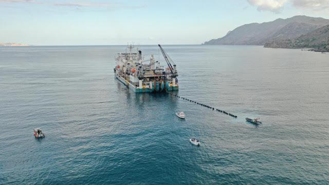 Δοκιμαστική ηλέκτριση του πρώτου υποβρύχιου καλωδίου που συνδέει την Κρήτη με την Πελοπόννησο