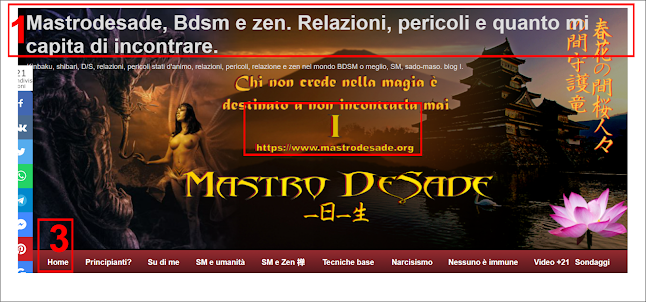 header di https://www.mastrodesade.org, bdsm e zen