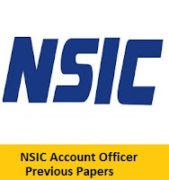 NSIC Account Officer Previous Papers