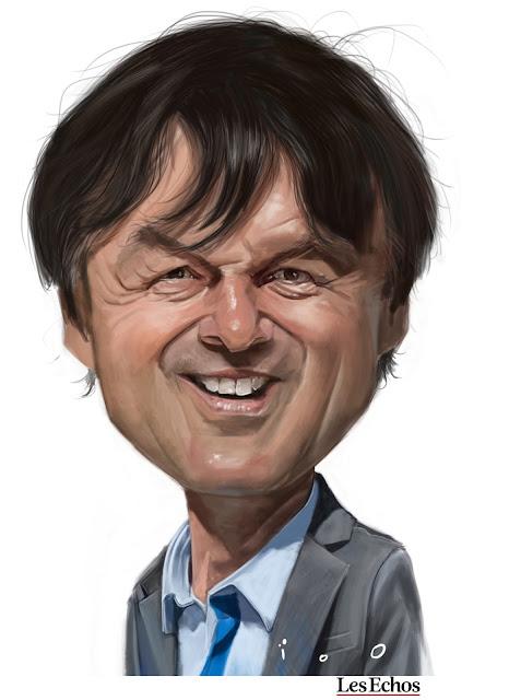 Nicolas Hulot, caricature par ioO pour Les Echos