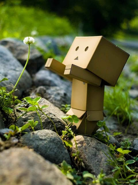 Cute Hình Nền Điện Thoại Robot Giấy Đáng Yêu