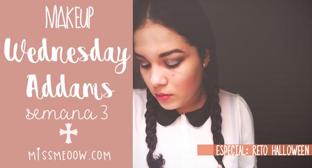 Makeup: Wednesday Addams #RetoHalloween