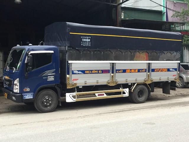 Đóng thùng bạt bửng nhôm xe tải Hyundai EX8
