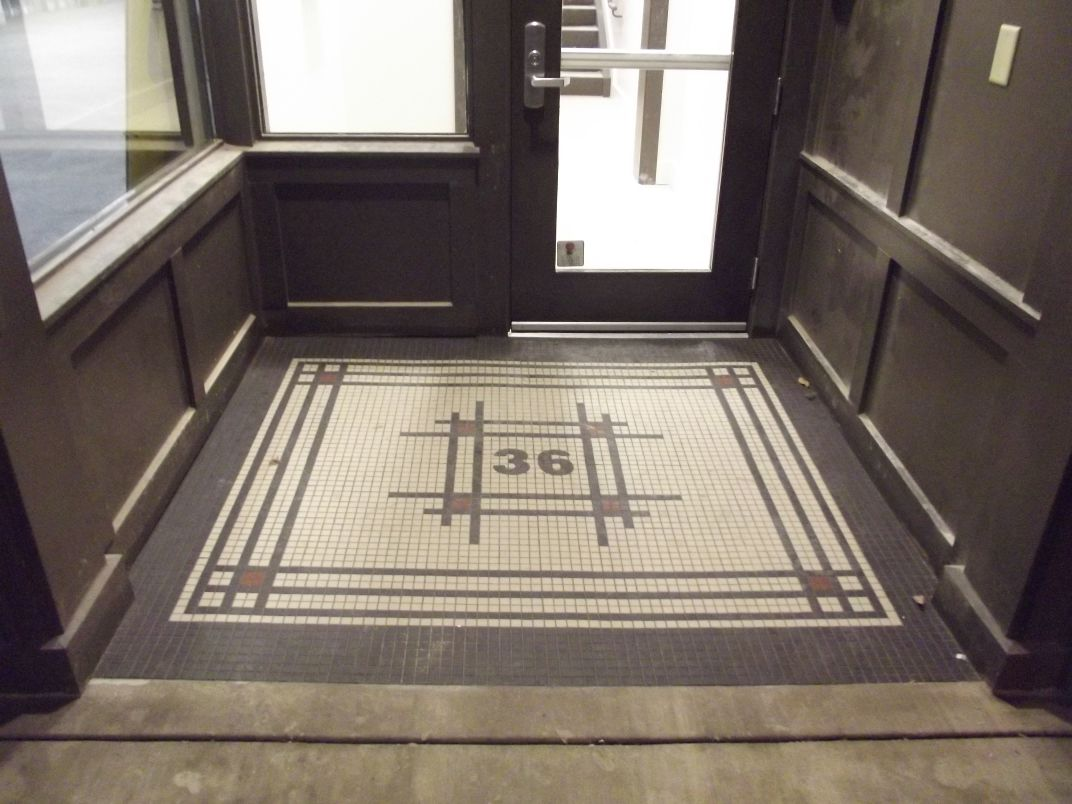 Finished Product Tiled Entryway At 36 Market Square Knoxville