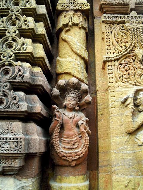A naga pilaster, Mukteshwar Temple, Bhubaneshwar