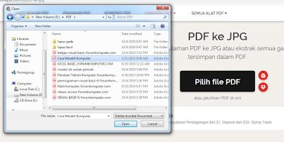 Cara Mengubah File PDF Menjadi JPG secara online