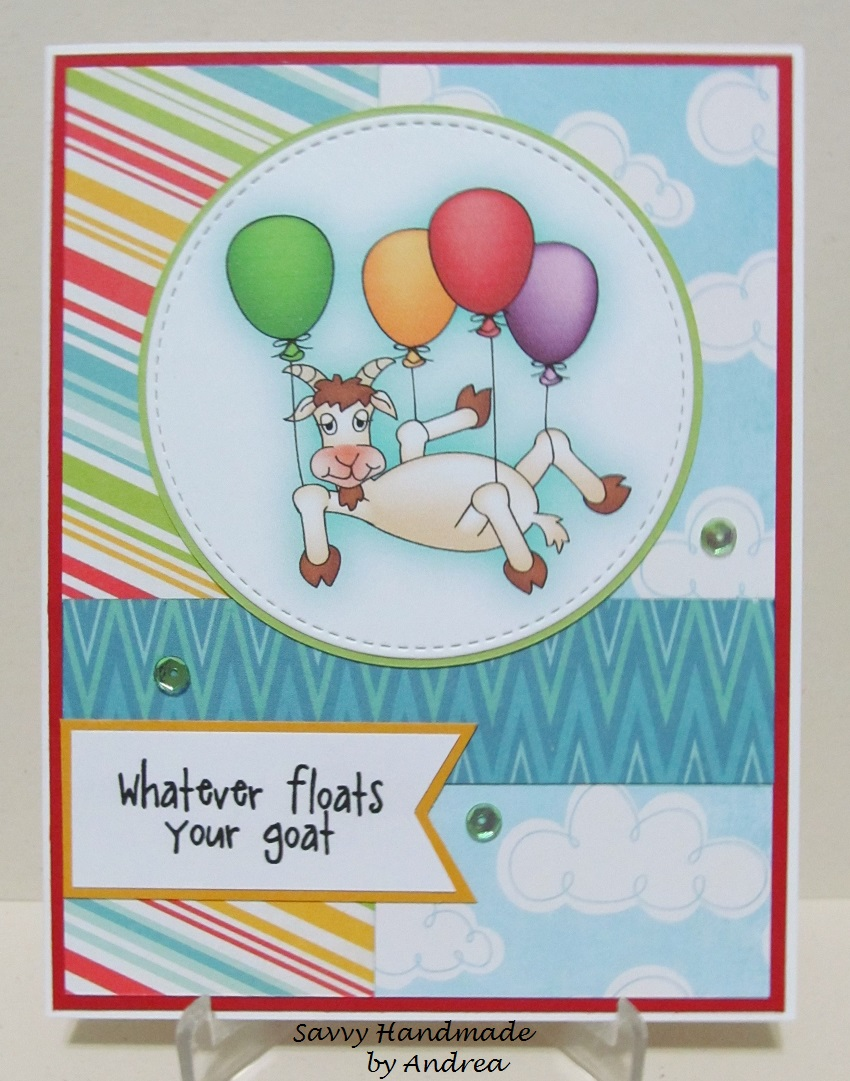 Savvy handmade cards floats your goat birthday card floats your goat birthday card bookmarktalkfo Image collections