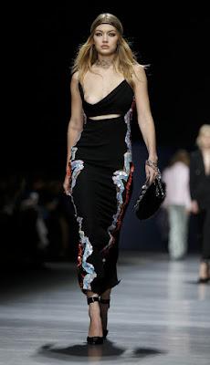 Gigi Hadid on Versace Nipple Slip - Gigi Hadid Wardrobe Malfunction